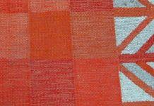 Tapis vintage Scandinave Armure plate kilim fait main, 1B594