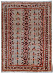 Tapis vintage Ouzbek Bukhara fait main, 1C491