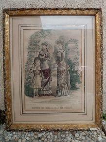 cadre ancien , moniteur des  dames et demoiselles