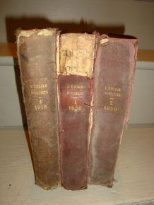 """Livres ancien """"L'étoile Noeliste"""" lot de 3"""