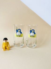 2 VERRES PINGOUINS PR BIERE JAPONAISE