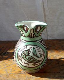 Pichet en céramique signé Dominguo Punter - Années 50