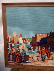 Grande tapisserie canevas encadrée