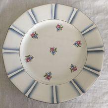 6 assiettes plates Digoin, Sarreguemines