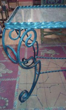 Table en fer forgée vintage