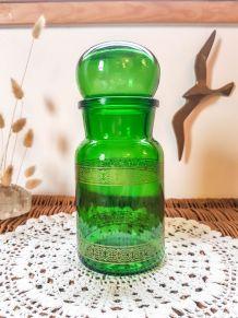 Bouteille vintage verte vintage Bocaux en verre Flacon ancie