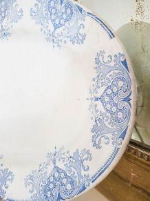 """Grand Plat ovale Terre de Fer K&G LUNEVILLE modèle """" MAURESQ"""
