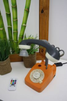 "LAMPE A POSER RECUP' ""TELEPHONE TOY"""
