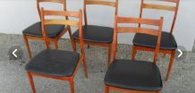 5 chaises style scabdinaves vintage