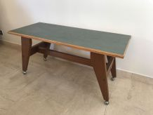 Table basse style scandinave pieds compas