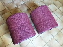 Poufs vintage en tissu, sièges d'appoint, tabourets.