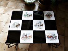 table basse carreaux mosaïques, table basse vintage de salon