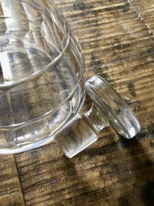 Flacon ou carafe verre années 70