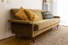 Canapé lit, clic clac, scandinave vintage