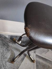 tabouret industriel de métier réglable  hauteur assise skaï