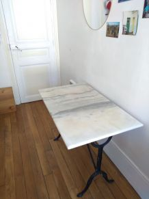 Table de bistrot ancienne en marbre