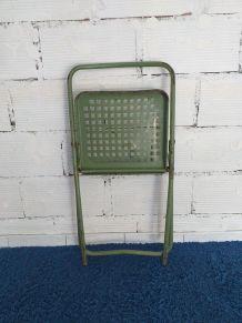 Chaise industrielle pliante vintage années 50