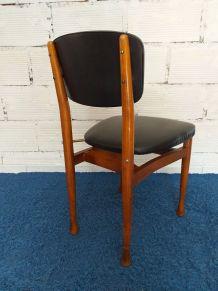 Chaise design scandinave vintage années 70 teck