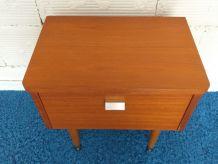 Table de chevet scandinave vintage années 60 teck