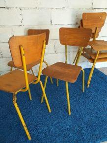 Lot de 6 chaises vintage années 50 Mullca 511