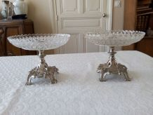 Paire de coupes, centre de table  Style Louis XV