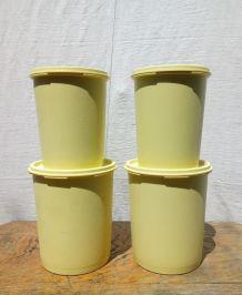 Série de 4 boites Tupperware Soleil - Années 70/80