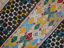 Tapis vintage Tunisien flat-weave fait main, 1C497