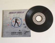 Duran-Duran «A view to a kill» Vinyle 45 t