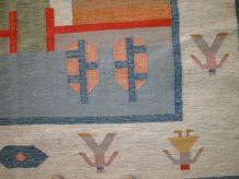 Tapis vintage Suédois kilim fait main, 1C565