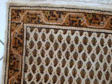 Tapis vintage Indio Indo-Seraband  fait main, 1C575