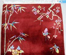 Tapis ancien Chinois Art Deco fait main, 1B604