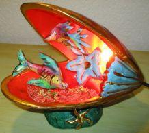 lampe en barbotine de vallauris