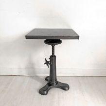Petite table d'appoint industrielle 50's