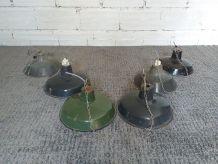 Lot de 6 lampes industrielles vintage usine