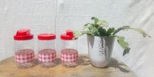 """3 pots en verre Félix Potin """"La Parisienne"""""""