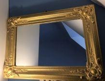Miroir ancien bois doré 55 cm x 39 cm
