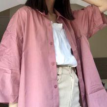 chemise vintage rose tres belle