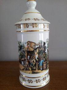 Pot à pharmacie Porcelaine de LIMOGES Porcelaine d'art A.VAL