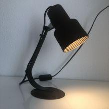 Lampe design Herda chocolat vintage 1960 - 27 cm