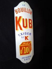 Plaque émaillée bombée  Bouillon Kub