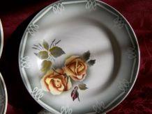 """10 assiettes à dessert. DIGOIN SARREGUEMINES """" Modèle ODILE"""