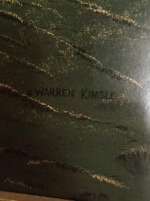 Affiche naïve Grange rouge Warren Kimble
