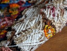 Tapis vintage Français tapestry fait main, 1C603
