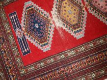 Tapis vintage Ouzbek Bukhara fait main, 1C615