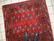 Tapis vintage Turkmène Tekke fait main, 1C631