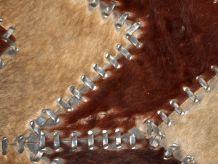 Tapis vintage Européen cuir fait main, 1C646