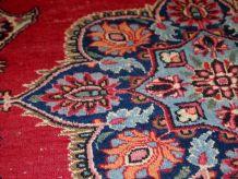 Tapis vintage Persan Kazvin fait main, 1C664