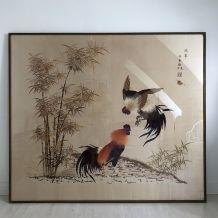 Broderie sur soie Chine début XXème