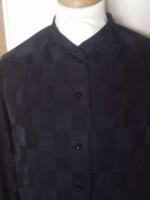 Chemisier noir à carreaux taille 42/44 sans marque