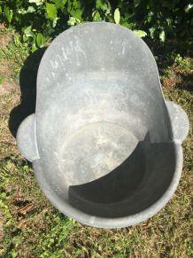 Baignoire / Bain de siège en zinc